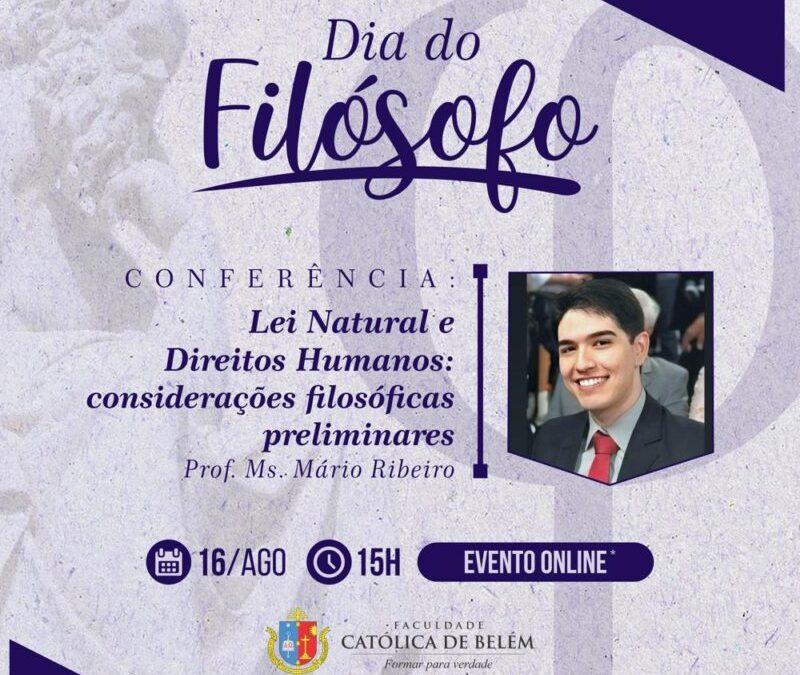 Dia do Filósofo da Faculdade Católica de Belém.
